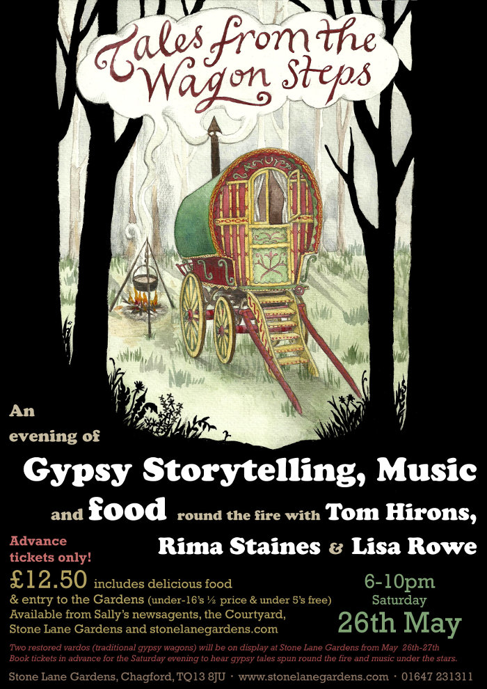 poster for our show, Tales from the Wagon Steps, Devon, 2012